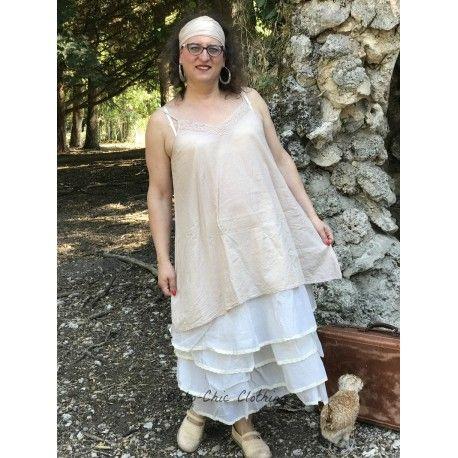 dress LEA pink beige striped cotton