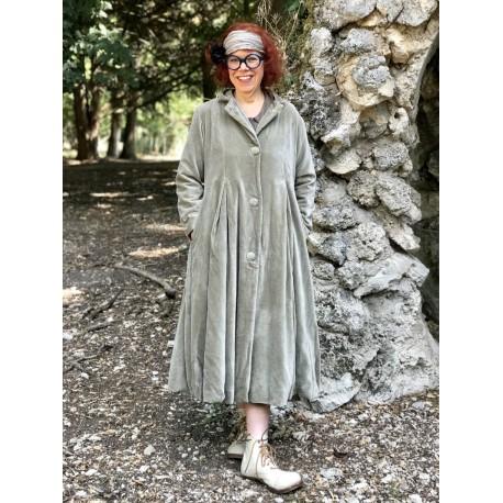 coat AYMEE olive velvet