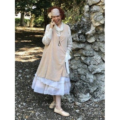 robe FLORIE velours rose