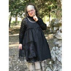 dress HEIOLI black cotton, linen and organza