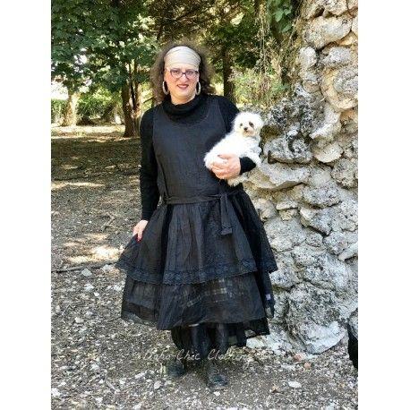 dress ELISE black organza