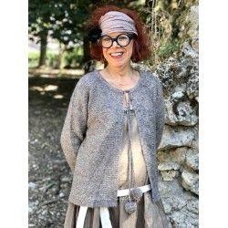 short jacket KERANE brown taupe wool