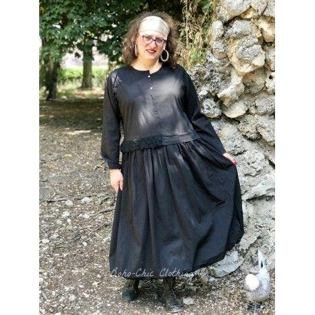 dress EDEN black poplin Les Ours - 1