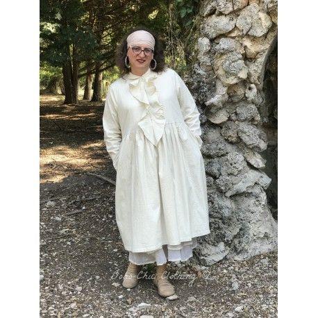 dress BASIL ecru poplin