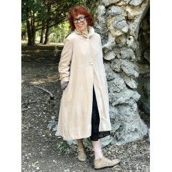 manteau BORA velours rose