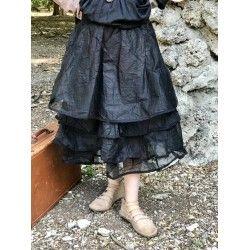 jupe jupon MADELEINE organza noir