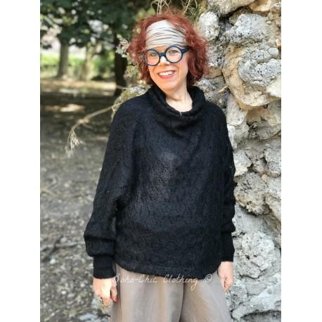 pull col roulé ANOOK laine noir