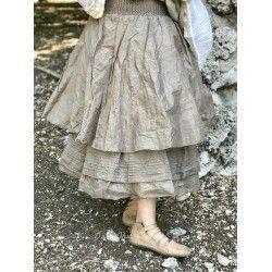skirt petticoat CELESTE chocolate organza