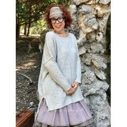 loose sweater MARIE LAURE heather beige wool