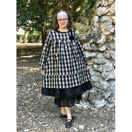 tunique ALAE coton carreaux noir et écru
