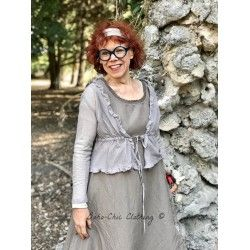 short jacket LAURE taupe tulle