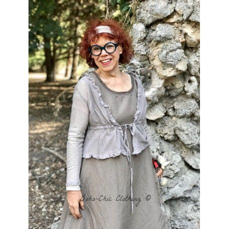 top LAURE tulle taupe