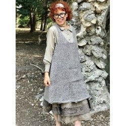 tunic GABIN brown taupe wool