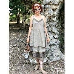 dress LEA striped linden cotton