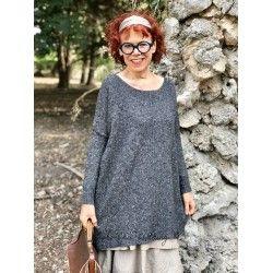 loose sweater MARIE LAURE heather dark gray wool