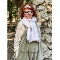 shawl ALPHONSINE ecru wool