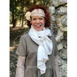 foulard PAULINE twill écru