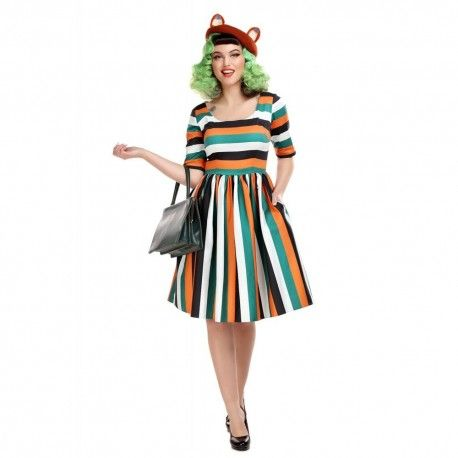 robe Amber-lea Pumpkin Stripe