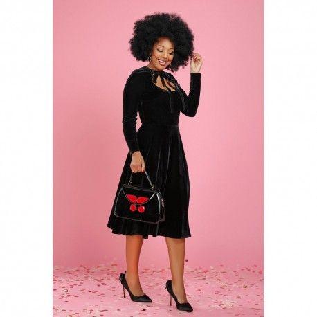 robe Clara Velvet Noir