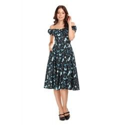 dress Dolores Midnight Butterfly