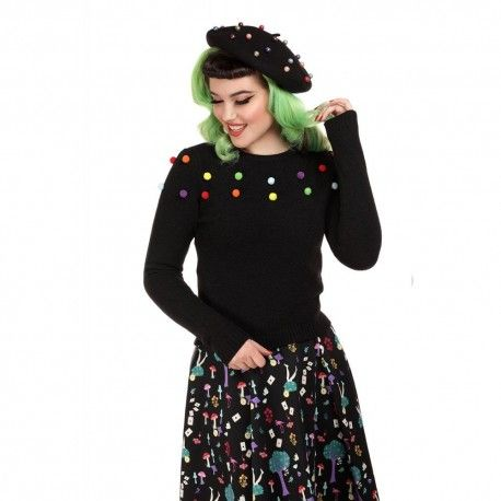 pullover Barbara Rainbow Pom Pom
