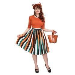 jupe Jasmine Pumpkin Stripe