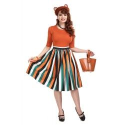 skirt Jasmine Pumpkin Stripe