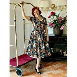 dress Caterina Forest Floral Collectif - 1