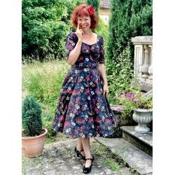 robe Dolores Midnight Floral