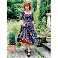 robe Dolores Midnight Floral Collectif - 1