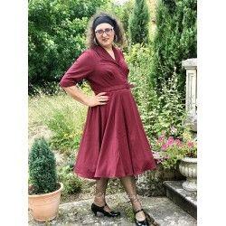 dress Romane Wine