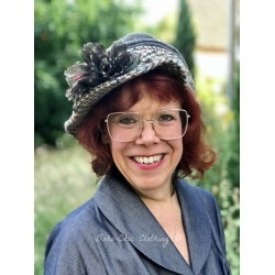 hat SUSAN in beige & brown