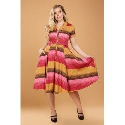 dress Caterina Sunset Stripes Collectif - 1