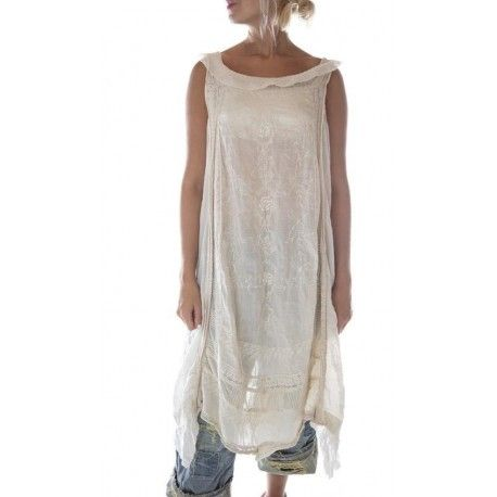 robe Ramie Anna Cecilie in Antique White