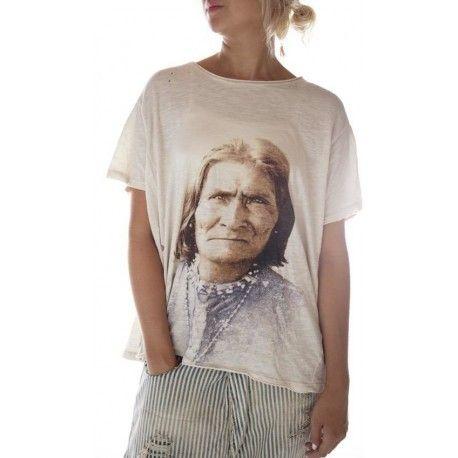T-shirt Geronimo Bandana in Moonlight