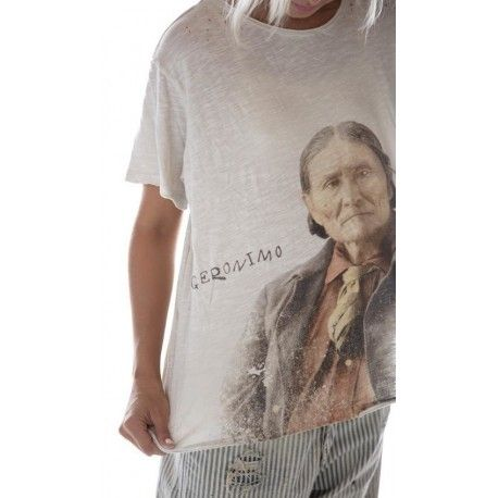 T-shirt Geronimo Portrait in Moonlight