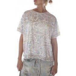 T-shirt Hand Block Print in Acanthus Sun