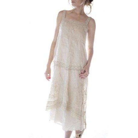 robe Ramie Vivi Anne in Antique White
