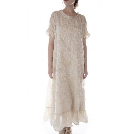 dress Ramie Anna Grace in Antique White