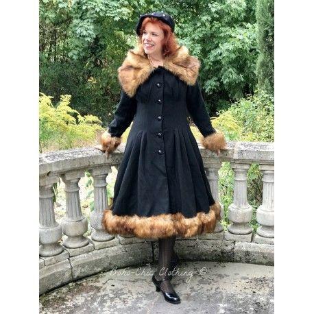coat Pearl Wool and Faux fur