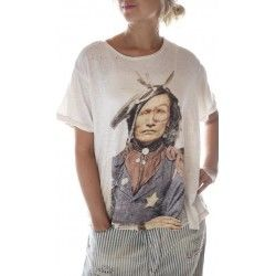 T-shirt Native American Law in Moonlight