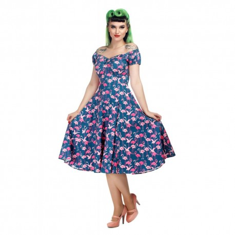 robe Dolores Flamants roses