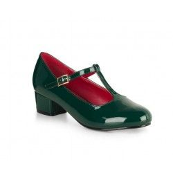 shoes Chrissie Block Heel Green