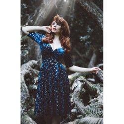 robe Trixie Velvet Sparkle Bleu foncé