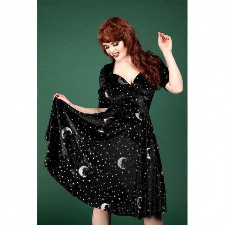 robe Trixie Midnight Moon Velvet Noir