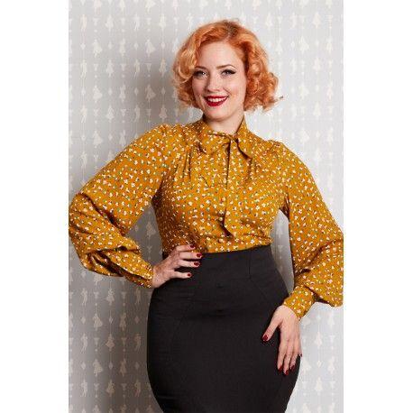 blouse Althea Mustard