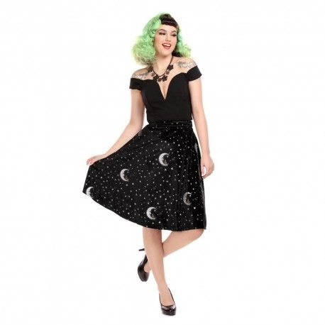 skirt Mattie Midnight Moon Velvet
