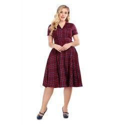 dress Caterina Wine Check