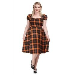 dress Mimi Pumpkin Check