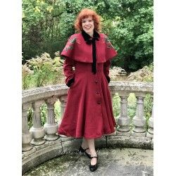 manteau et cape Claudia Red Roses